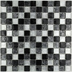 Tile glass mosaic kitchen bathroom LUXNOIR23