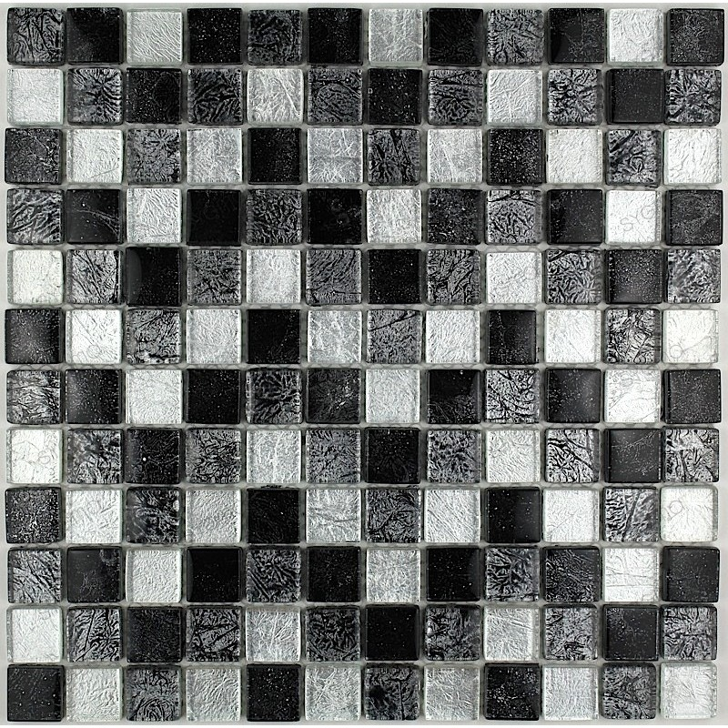 Tile glass mosaic kitchen bathroom luxnoir23 carrelage for Carrelage mosaique