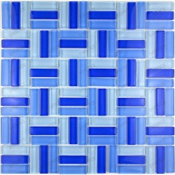 Tile glass mosaic salledebain kitchen CITYBLEU