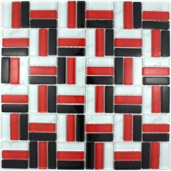 Tile glass mosaic tiled wall model red city