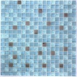 mosaico vidrio y acero espejo frente cocina harris bleu