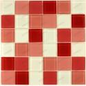 Mosaique carrelage verre 1 plaque ROUGE 48