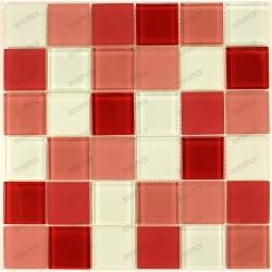 mosaico ducha vidrio mosaic baño frente cocina rouge 48