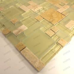 carrelage mosaique verre et pierre LUTECESABLE