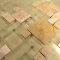 carrelage mosaique verre et pierre 1 plaque LUTECESABLE