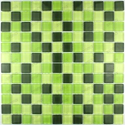 Tile glass mosaic shower bath OPALINE23