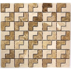 Tile mosaic stone marble 1 SONAL plate