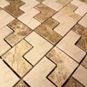 carrelage mosaique pierre marbre 1 plaque SONAL