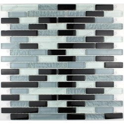 Tile glass mosaic splashback kitchen SPIRIT