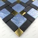 Carrelage mosaique verre pierre et metal MIRAGE