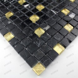 mosaic tiles glass and stone Mandala Gold