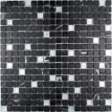 mosaique verre et pierre carrelage MANDALA SILVER