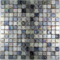 Mosaic tiles glass shower bath Arezo Gris