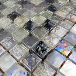 Mosaique carrelage verre Arezo Gris