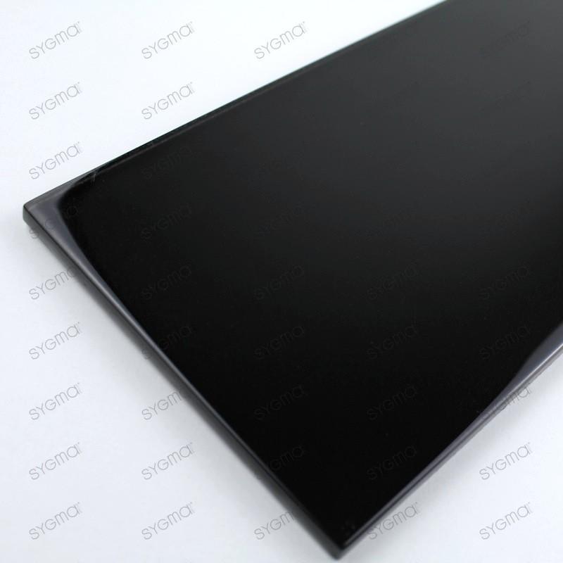 glass tile splashback kitchen longo black tiles. Black Bedroom Furniture Sets. Home Design Ideas