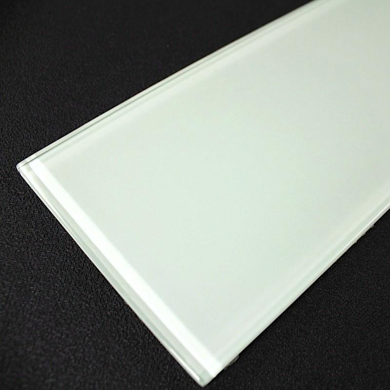 Glass Backsplash Kitchen And Bathroom Longo White Tiles Carrelage