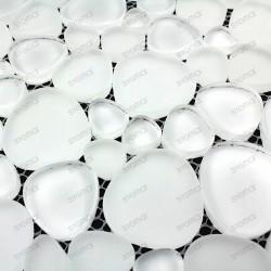 Mosaique carrelage verre 1 plaque NOIR MIX
