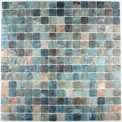 Mosaic glass GOLDLINE TURQUOISE paste