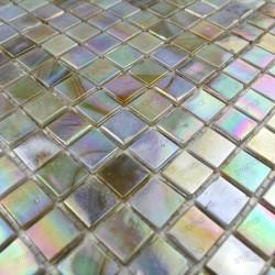 mosaique pate de verre carrelage RAINBOW PERLE