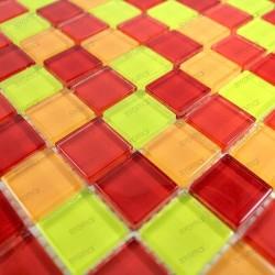 Mosaique verre carrelage CINABRE