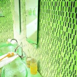 carrelage verre mosaique cuisine credence opaline rectangular