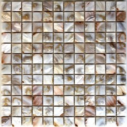 Tile mosaic in nacre 1 plate nacrenaturel