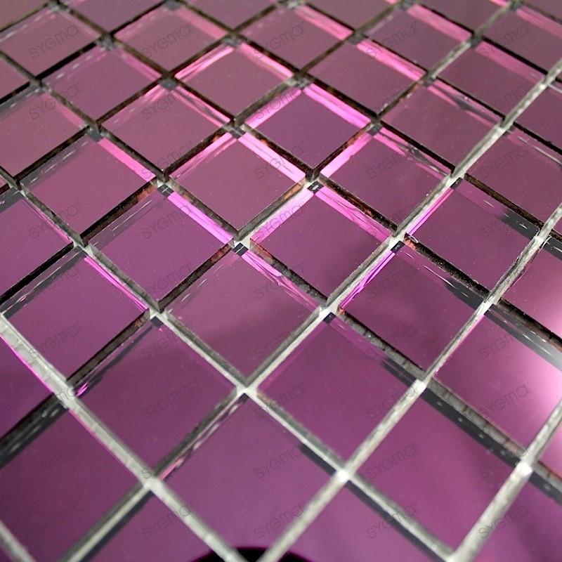 mosaique carrelage en verre effet miroir REFLECT VIOLET