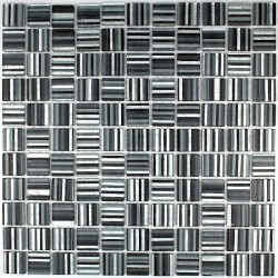 Tile glass mosaic kitchen splashback CANDY black