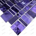 carrelage verre mosaique mur modele PULP VIOLET