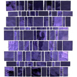 Tile glass mosaic wall shower kitchen PULP VIOLET