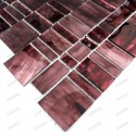 carrelage verre mosaique modele PULP BORDEAUX