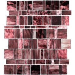 Tile glass mosaic shower bath PULP BORDEAUX