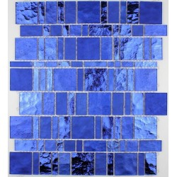 Tile glass mosaic shower bath PULP blue
