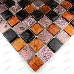 Mosaic stone and glass METALLIC coffee