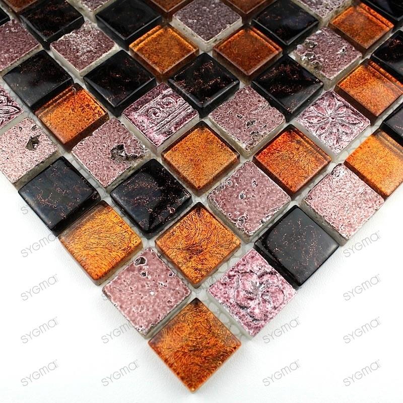 mosaique pierre et verre metallic cafe carrelage mosaique. Black Bedroom Furniture Sets. Home Design Ideas