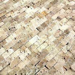 Mosaique carrelage pierre 1 plaque CINZA BEIGE