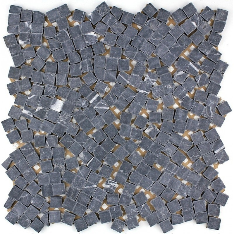 Mosaique carrelage pierre 1 plaque LULLI NOIR