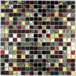 mosaico ducha vidrio mosaic Muro baño y cocina Strass Dium
