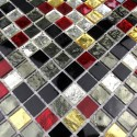carrelage verre mosaique douche salle de bain Strass Dium