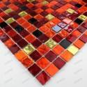 mosaique carrelage en verre modele GLOSS ROUGE