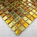 mosaico ducha vidrio mosaic baño frente cocina Strass Gold