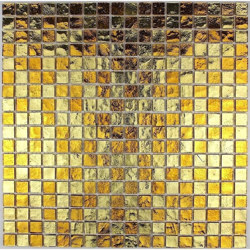 mosaique carrelage verre douche salle de bain Strass Gold