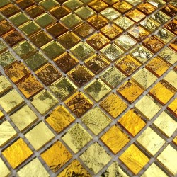 mosaic tiles glass shower bath model Strass Gold