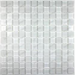 Azulejo de mosaico de vidrio loza MATBLANC23