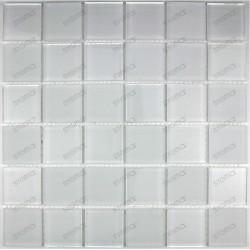 Mat Blanc 48 - mosaique de verre